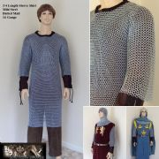 3/4 Length Sleeve - Zinc Plated Butted Mild Steel Chainmail Shirt